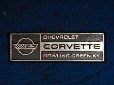 1984-1993 C4 CORVETTE UNDERHOOD BOWLING GREEN EMBLEM 10175789 ORIGINAL METAL