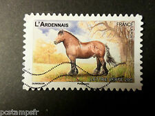 FRANCE 2013, timbre AUTOADHESIF 817 CHEVAL ARDENNAIS oblitéré VF STAMP HORSE