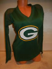 """0102 WOMENS NFL GREEN BAY PACKERS """"BLOWN COVERAGE"""" Football Jersey Top Green"""