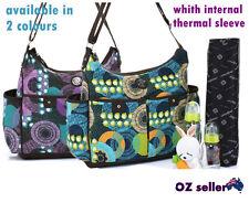 Enfance Mum/ diaper nappy changing bag 2pcs 2 colors (purple,green-blue)