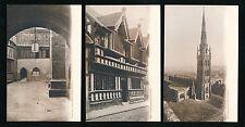 Warwickshire COVENTRY x3 c1902 u/b PPCs