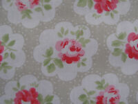 Cath Kidston FQ 50cm square Provence Rose Stone Grey cotton lightweight fabric