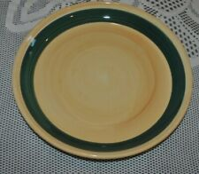 "FURIO HOME SERVING Salad Bowl Hand painted Italy 10.5""D Yellow Olive"