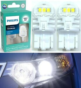 Philips Ultinon LED Light 7443 White 6000K Two Bulbs Brake Stop Tail Park Lamp