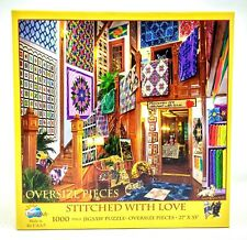 """Stitched With Love 1000 Oversized Pieces Puzzle 27"""" x 35"""" SunsOut USA Age 10+"""