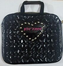 Besty Johnson heart black and gold briefcase laptop case bag