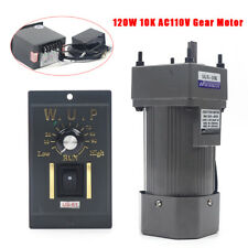 Used 110v Reversible Ac Gear Motor Electric Withvariable Speed Controller 10k 135