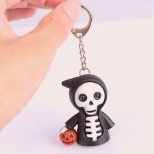 Halloween Skull Cartoon Keychain With LED Light & Sound Keyfob Toys Gift