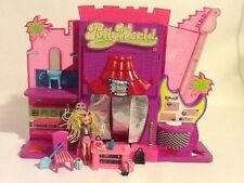 polly pocket world rock star doll chair guitar handbags sunglasses camera shoes