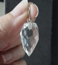 Pendentif cristal de roche oeuf facetté 2,5 cm / 5 g