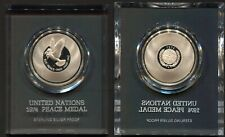 United Nations 1974 Sterling Silver Proof Peace Medal with Box & CoA