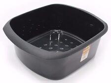 LARGE RECTANGULAR PLASTIC WASHING UP BOWL - TML - SINK BOWL - BLACK