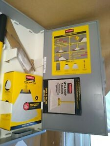 BRAND NEW Rubbermaid Commercial Spill Mop Kit Storage Cabinet - # 2031093