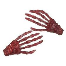 Blood Red Glitter Skeleton Hands HairClip Halloween Horror Accessory Kreepsville