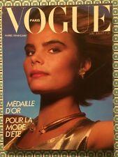 VOGUE PARIS French n°647 Juin 1984 Mariel Hemingway / Mode D'été
