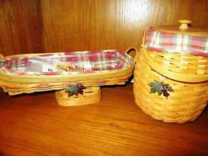 Longaberger 2000  October Fields Autumn Basket & Harvest Blessings Baskets