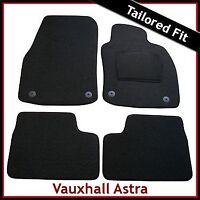 VAUXHALL ASTRA H 2004-2009 Tailored Carpet Car Mats BLACK