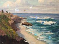🔥 Antique California Plein Air Impressionist Oil Painting LA JOLLA - Ann Palmer