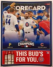 CHICAGO CUBS  2017 SCORECARD VS PIRATES (ALEX AVILA ON COVER)! WALK OFF!