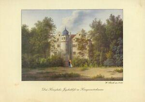 Königswusterhausen - W. Barth um 1830 -Königliche Jagdschloss