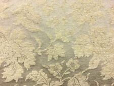 Qualité traditionnel floral or pâle damas ameublement rideau tissu matériel!