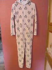 Womens Girls 1-Piece Forever 21 Hello Kitty Long Sleeve Hooded Pajamas Sz S M