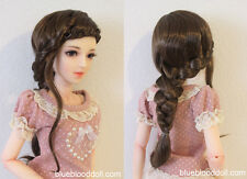 "1/3 bjd 8-9"" doll brown braid long wig dollfie Luts Iplehouse W-JD255SM4L"