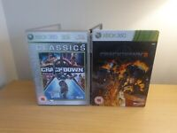 Xbox 360 Crackdown game bundle - 1 & 2 steelbook - complete with maps & manuals