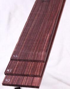 Brazilian Kingwood electric BASS guitar fretboard blank fingerboard KF43
