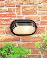 Gloss Black Aluminium Slotted Bulkhead Wall Light - 5795