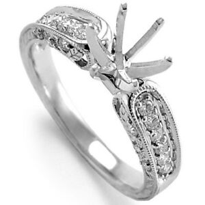 18k White Gold Diamond Setting Ring R942