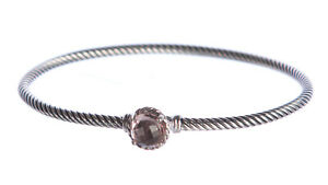 DAVID YURMAN Women's Chatelaine Bracelet with Morganite 3mm NEW