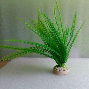 Aquarium Plant Bush Fish Tank Decoration Green Grass Plastic Artificial Silk