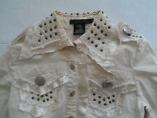 Neslay women's jacket size large. Metal studs and buttons