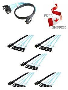 Mini Male to 4 SATA 7Pin female Cable  SAS 36 Pin SFF 808
