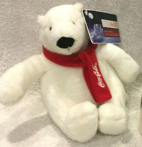 "2007 Coca Cola Polar Bear Plush 7"" Collectible - NWT"