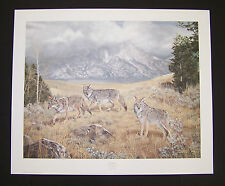 """Charles Frace Signed and Numbered Print  """"Wayfarers"""" Coyotes"""