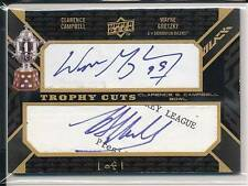WAYNE GRETZKY & CAMPBELL TROPHY CUTS AUTO BLACK DIAMOND CUT AUTOGRAPH 1/1 !!