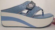 Melissa Brazilian Shoes Rock Thong Blue Wedge Size 6