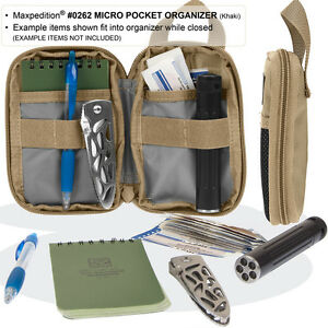 Maxpedition E.D.C. MICRO Pocket Organizer EDC - All Colours