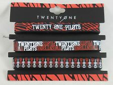 New 21 Twenty One Pilots Logos Rubber Bracelet 3 Pack Wristband Set