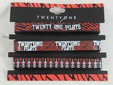 New 21 Twenty One Pilots Logos Rubber Bracelet 3 Pack Wristband Set