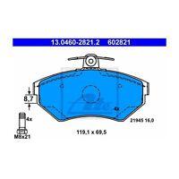 ATE 13.0460-2821.2 Bremsbelagsatz, Scheibenbremse  Links für VW Golf III Lupo