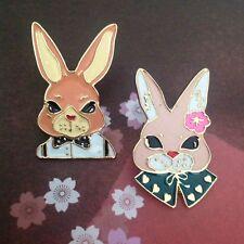 BROOCH Boy girl cute bunny jewellery Rabbit enamel pin Animal kawaii Xmas gift