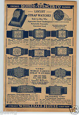 1930 Paper Ad Locust Cyma Wrist Watch Sealtight Band-O-Let