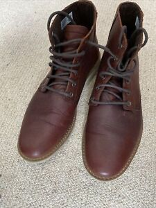 Tom's Mens Brown Leather Boots - UK11