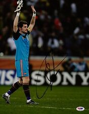 IKER CASILLIAS SIGNED SPAIN 2010 WORLD CUP 11X14 PHOTO PSA COA P45678