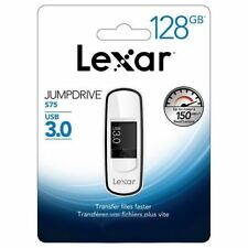 Lexar 128GB JumpDrive S75 - Fast USB 3.0 Flash Drive - Retractable Connector.