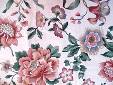 Large Floral Cabbage Rose Print Upholstery Fabric 56x38 in.Janice Brown Teflon