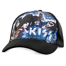 Kiss Loud & Proud Mens Black Printed Cap Hat One Size New